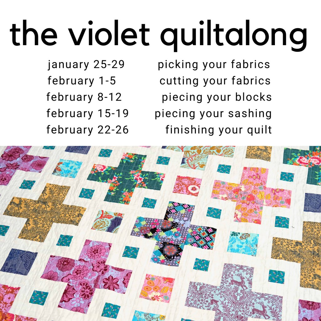 the violet quiltalong - kitchen table quilting
