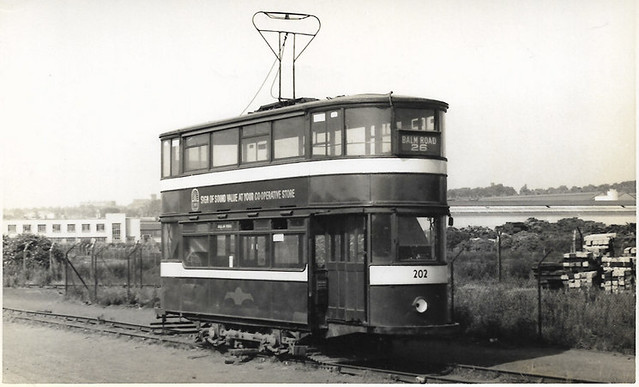 Leeds tram No. 202 stored @ Parkside