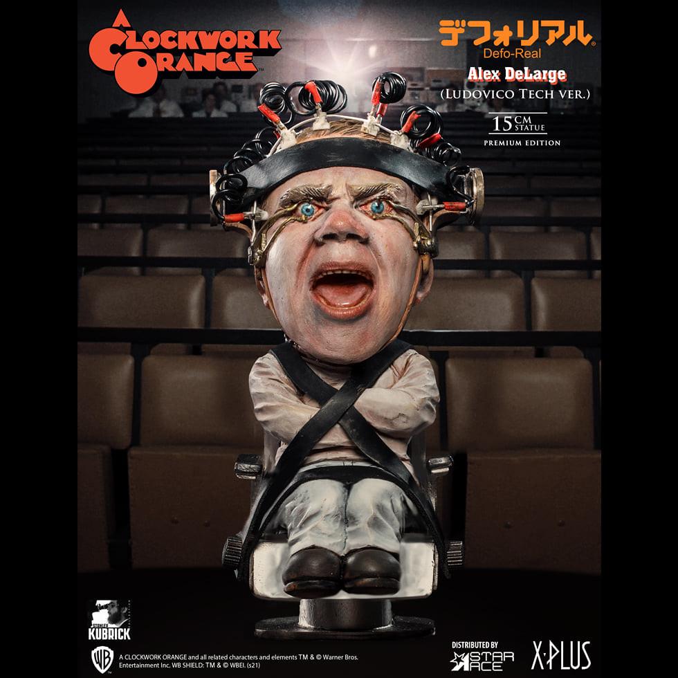 Star Ace Toys Defo-Real 系列《發條橘子》亞歷克斯(盧多維科技術 Ver.)迷你PVC雕像