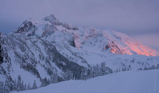 Last Light on Mount Shuksan