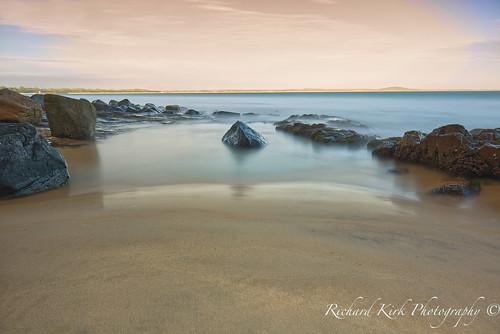 australia queensland noosa longexposure beach boulders sand sea seascape landscape