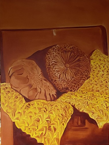 Cadmium Yellow Hue Study: Cushions | 2020 | Not for Sale | 60x80cm | Oil on Canvas