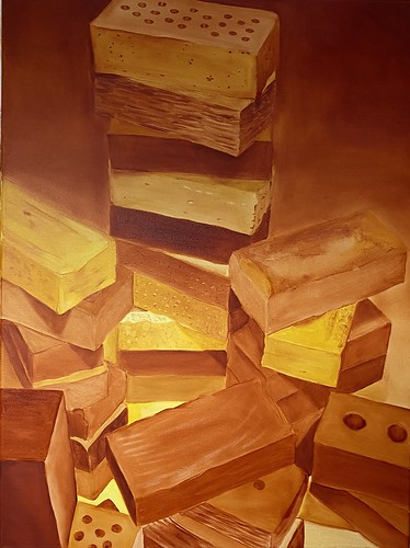 Cadmium Yellow Hue Study: Bricks 052 | Not for Sale | 2020 | 60x80cm | Oil on Canvas