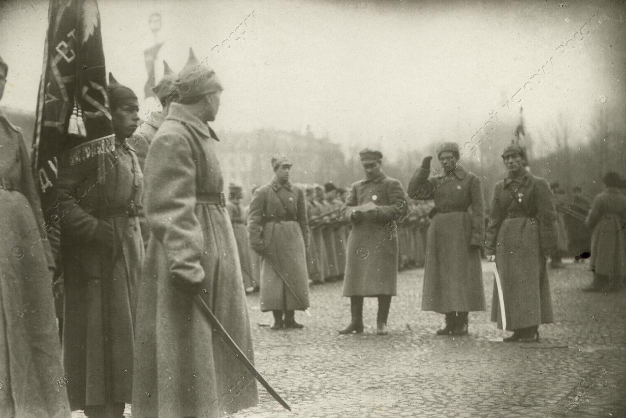 1918. Принятие присяги частями гарнизона. Петроград