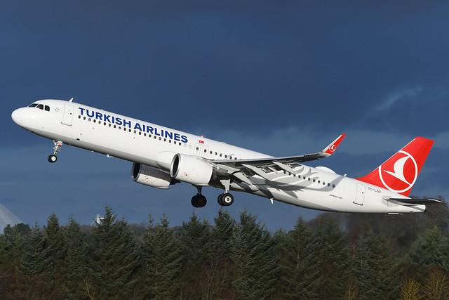 TC-LSV Airbus A321NX EGPH 19-12-20