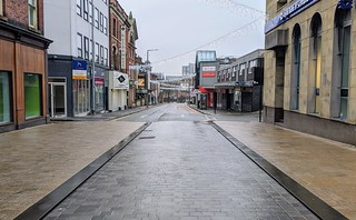Damp empty streets of Preston | by Tony Worrall