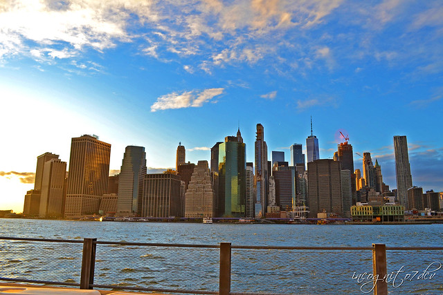Lower Manhattan View from Brooklyn Bridge Park Brooklyn New York City NY P00766 DSC_0075