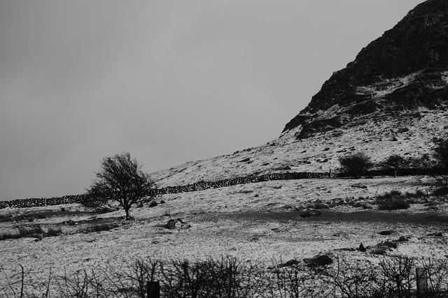 Snow storm coming - slemish mountain - fuji xt 3 b+w