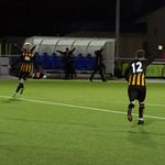 Reece McKeown (12) turns away to celebrate his goal
