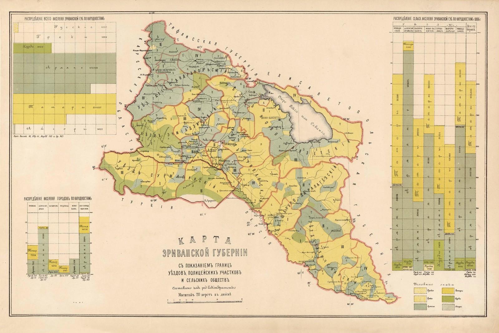 Карта Ериванской губернии