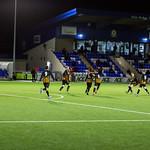 Huntly players celebrate Reece McKeown's goal