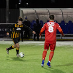 Glenn Murison prepares to curl in the equaliser