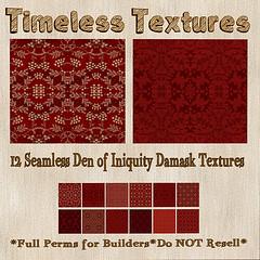 TT 12 Seamless Den of Iniquity Damask Timeless Textures