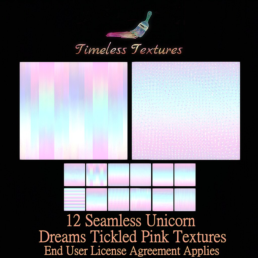 TT 12 Seamless Unicorn Dreams Tickled Pink Timeless Textures