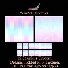 TT 12 Seamless Unicorn Dreams Tickled Pink Timeless Textures