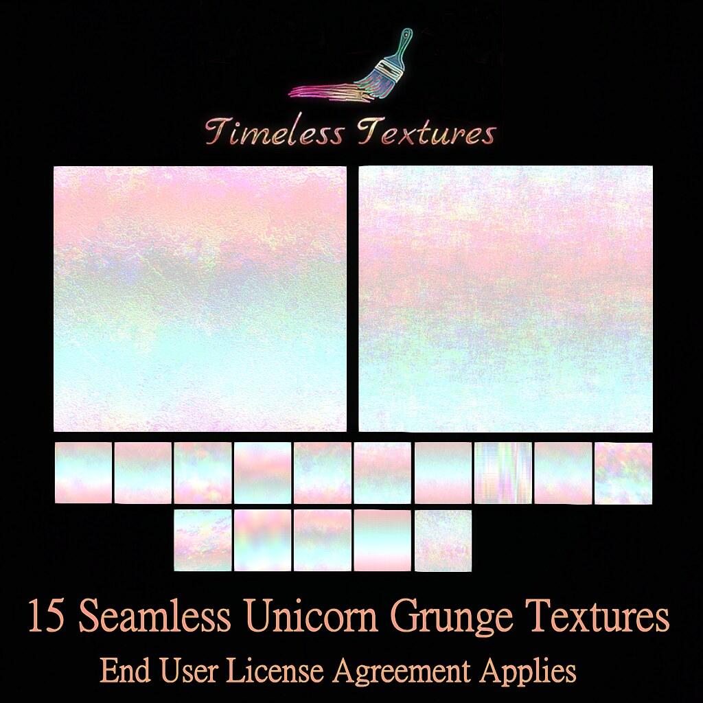 TT 15 Seamless Unicorn Grunge Timeless Textures