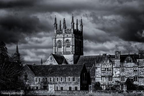 blackwhite churchtower d750 monochrome nikon oxford