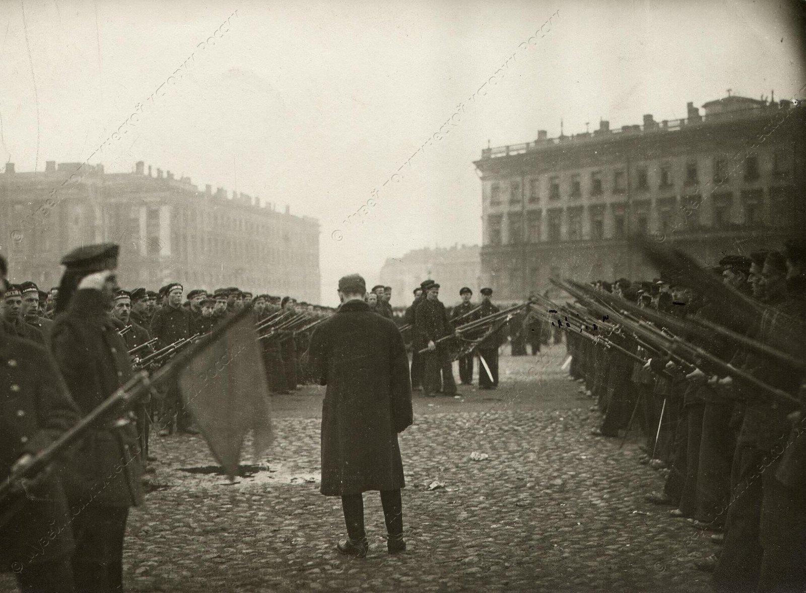 1918. Церемония принятия присяги моряками Балтфлота