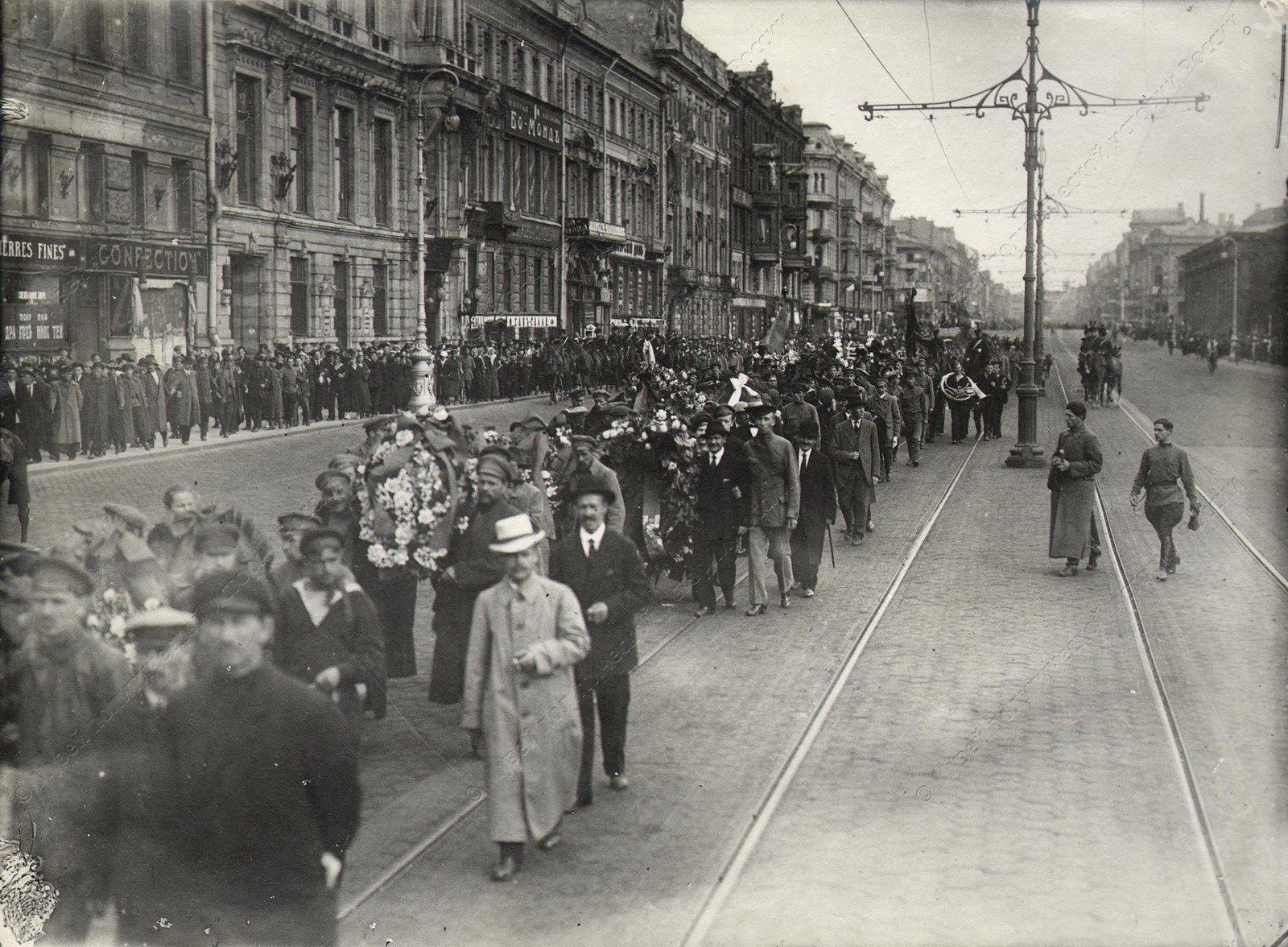 1918. Похороны Урицкого М.С., председателя Петроградского ЧК.