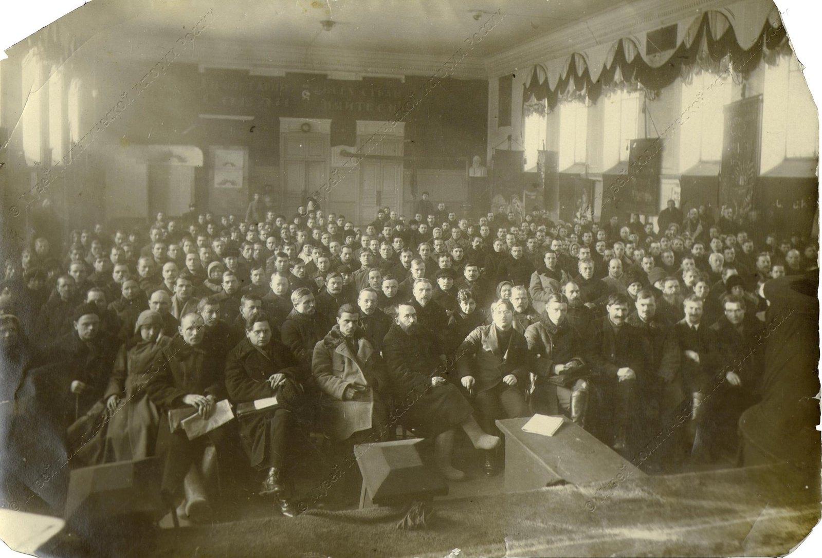 1918. В зале заседаний I Конгресса Коминтерна. Петроград