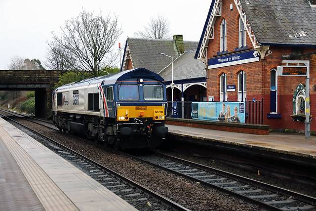 66 780 at Widnes on 8th January 2021