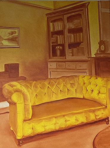 Cadmium Yellow Hue Study: Sofa 053 | Not for Sale | 2020 | 60x80 cm | Oil on canvas