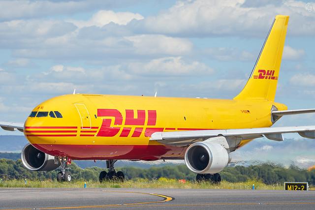 DHL yellow metal bird