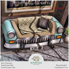 DD Vintage Car Sofa Teal Adult Ad