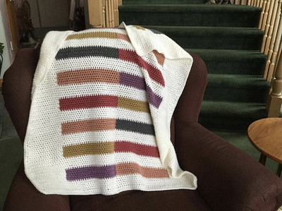 Debbie (debsnubs) recently finished these three baby blankets!!