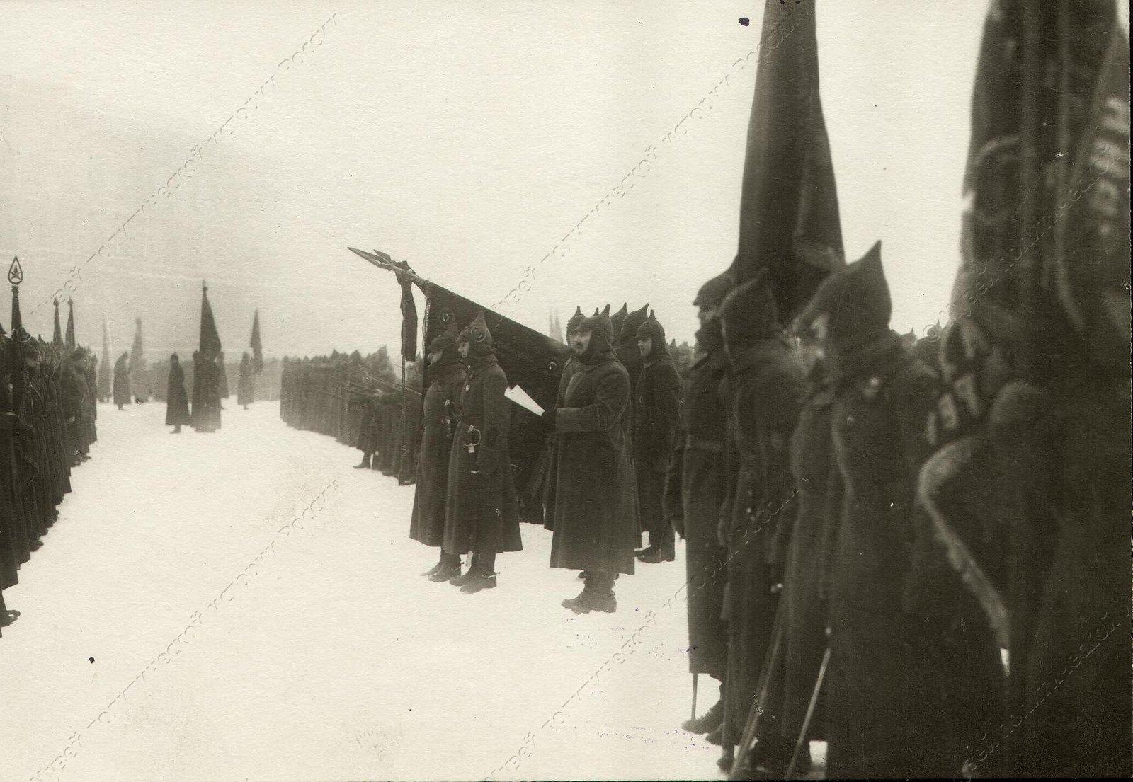 1918. Церемония принятия присяги моряками Балтфлота. Петроград