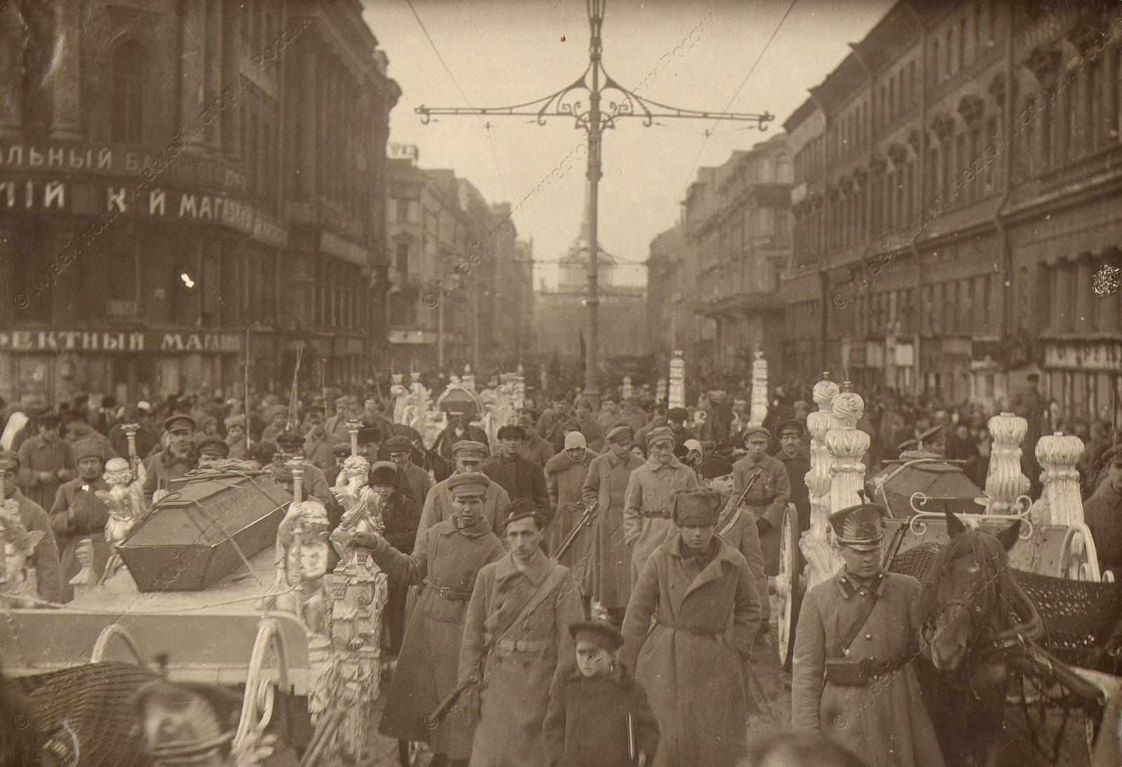 1918. Похороны жертв гражданской войны.