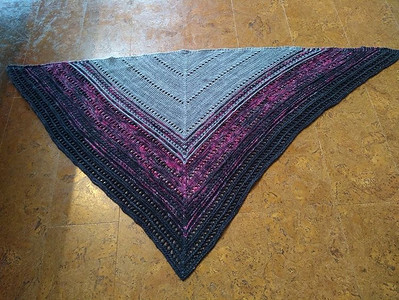 Rita (ritz) finished her Choose Love Shawl by ForestCityKG for their KAL!