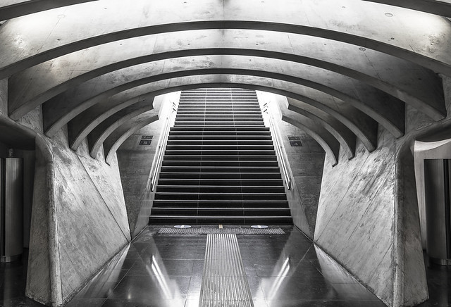 Underground stairs in symmetry