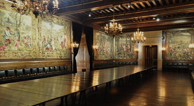 La salle aux cent couverts, château royal de Pau, Béarn, Pyrénées-Atlantiques, Nouvelle-Aquitaine, France.