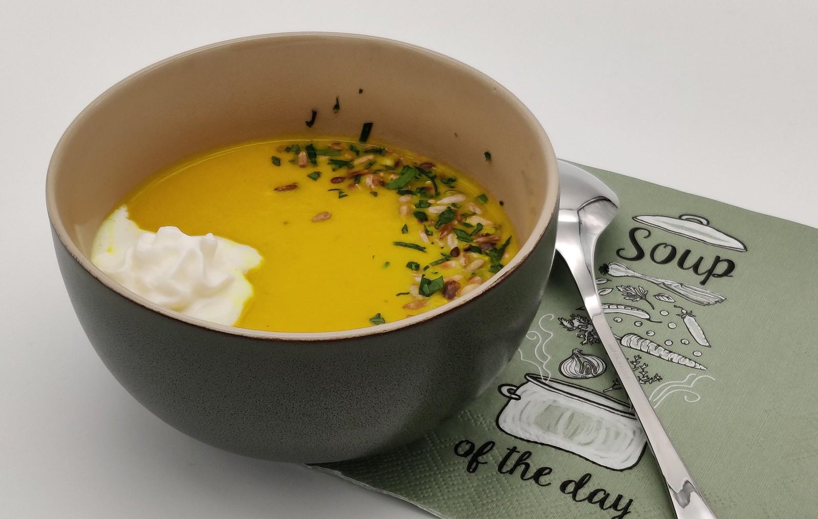 Karotten-Ingwer-Kurkuma-Suppe
