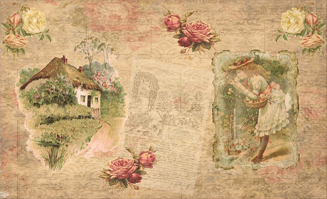 English Cottages Double Page