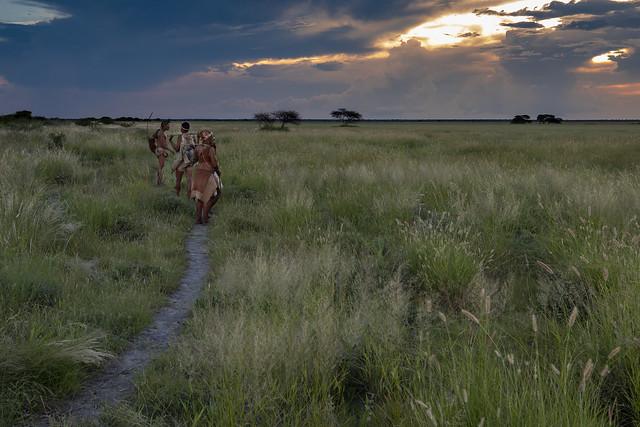 San family in the Kalahari