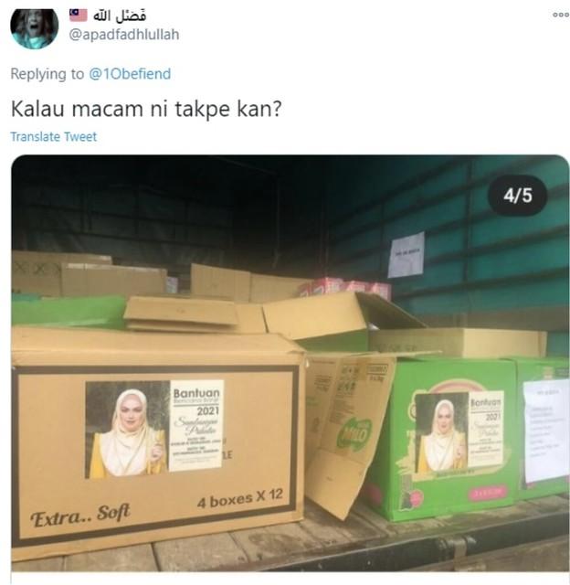 Letak Wajah Pada Sumbangan Mangsa Banjir, Ada Yang Pertikai Usaha Siti Nurhaliza