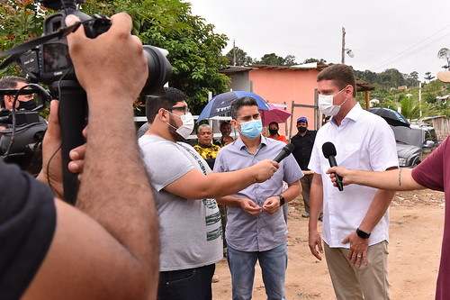 08.01.2021 Prefeito David Almeida anuncia obras na comunidade Itaporanga zona Norte.