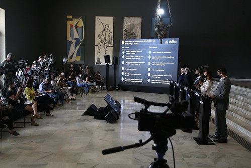 Coletiva de imprensa para atualização do Plano São Paulo