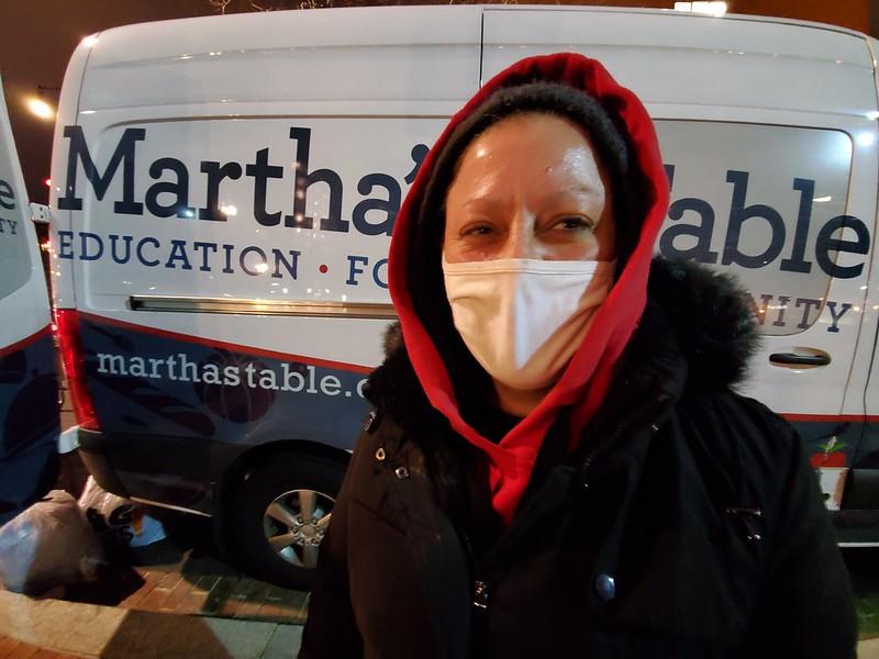 McAllister in front of Martha's Table Van