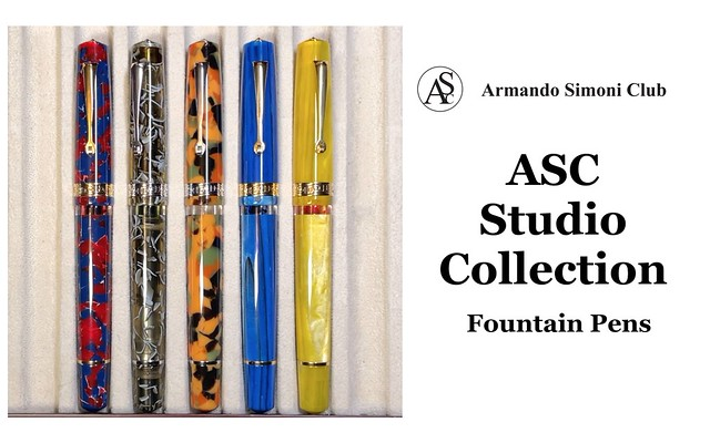 ASC Studio Line Piston-Filler Fountain Pens for $195 Title Card