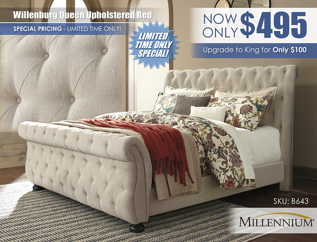 Willenburg Queen Upholstered Bed Special_B643-78-76-99-Q267_Clearance