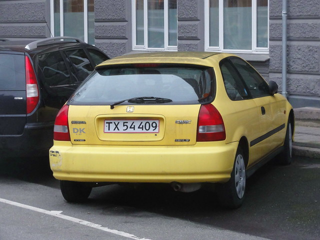1999 Honda Civic 1.5iLS TX54409 was never a common type on Danish roads but this one has survived