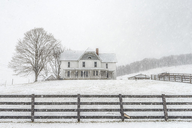 Peterstown Home in Snow (Explored)