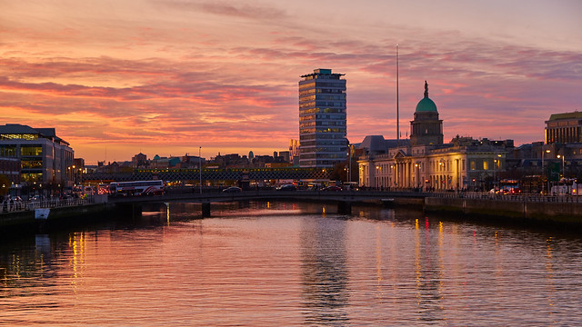Sunset over Dublin
