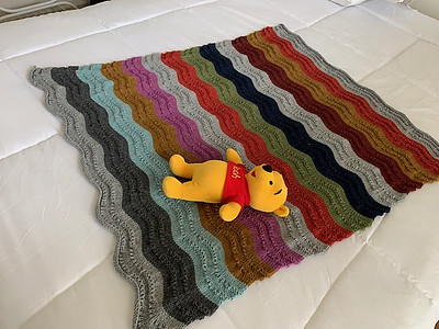 Connie (maltesecross) felt like making a baby blanket so knit Annie's Song by Laura Aylor using Berroco Vintage!
