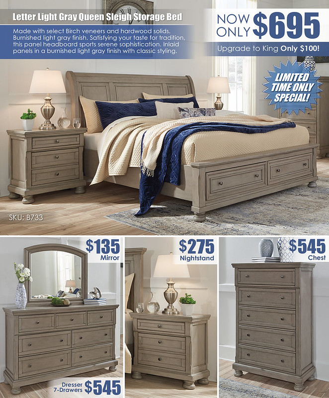 Lettner Light Gray Storage Sleigh Bed Special_Layout_B733_Update