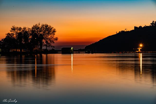 Lake Murray in twilight