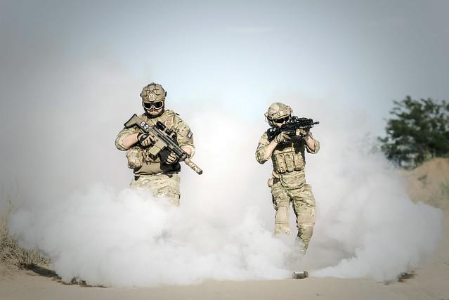 War Desert Guns Soldier Action Edit 2021